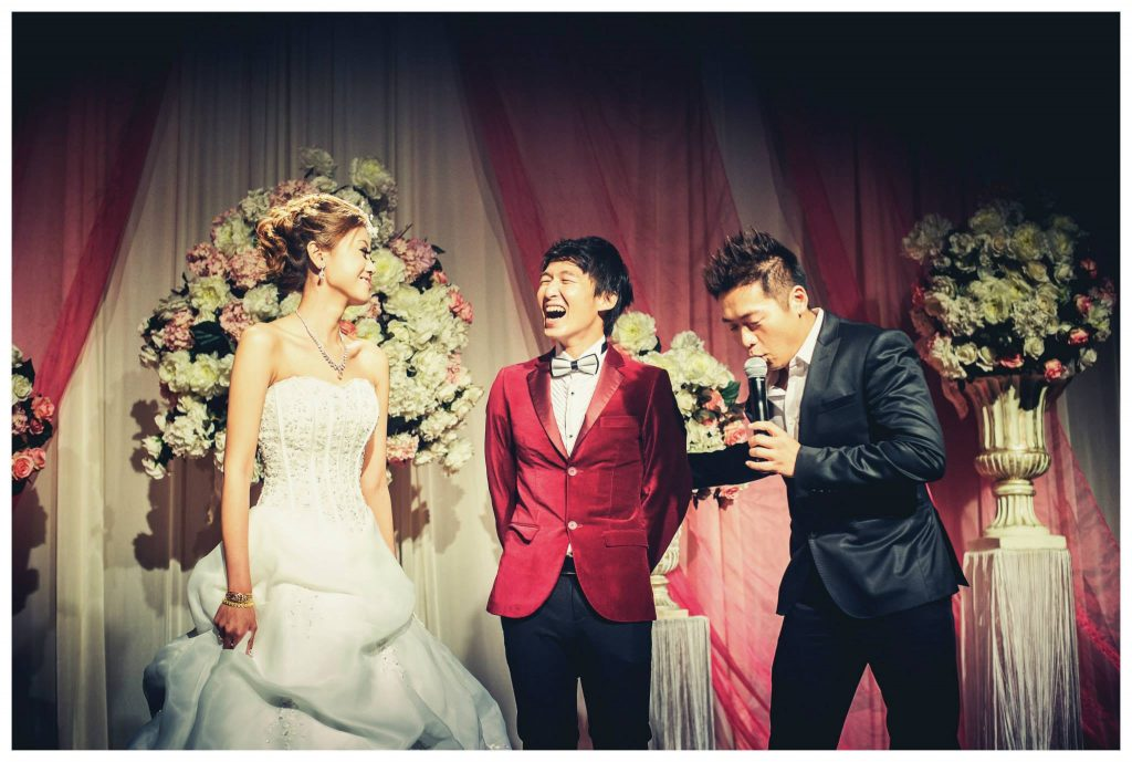 Wedding Emcee Singapore James Yang Marina Bay Sands Wedding