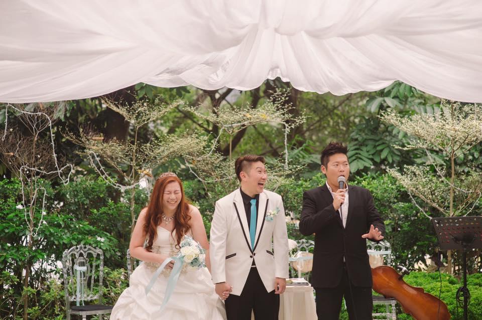 Singapore Emcee James Yang hosting Wedding Event
