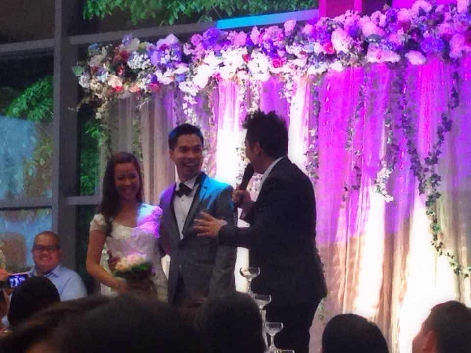 Singapore Emcee James Yang Hosting Wedding Philippines