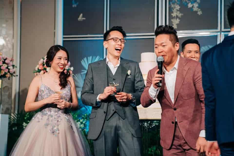 Singapore Emcee James Yang hosting a Wedding