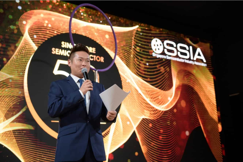 Emcee James Yang Singapore SSIA Event