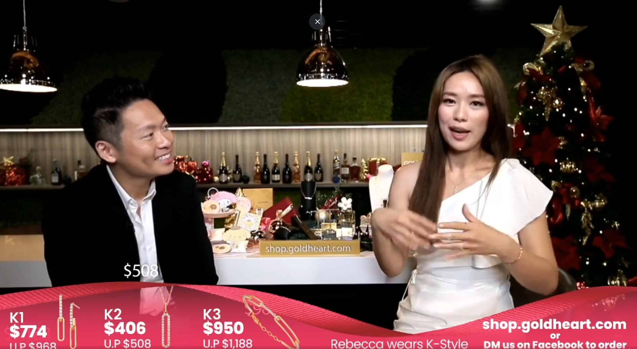 Virtual Events Emcee James Yang with Rebecca Lim & GoldHeart