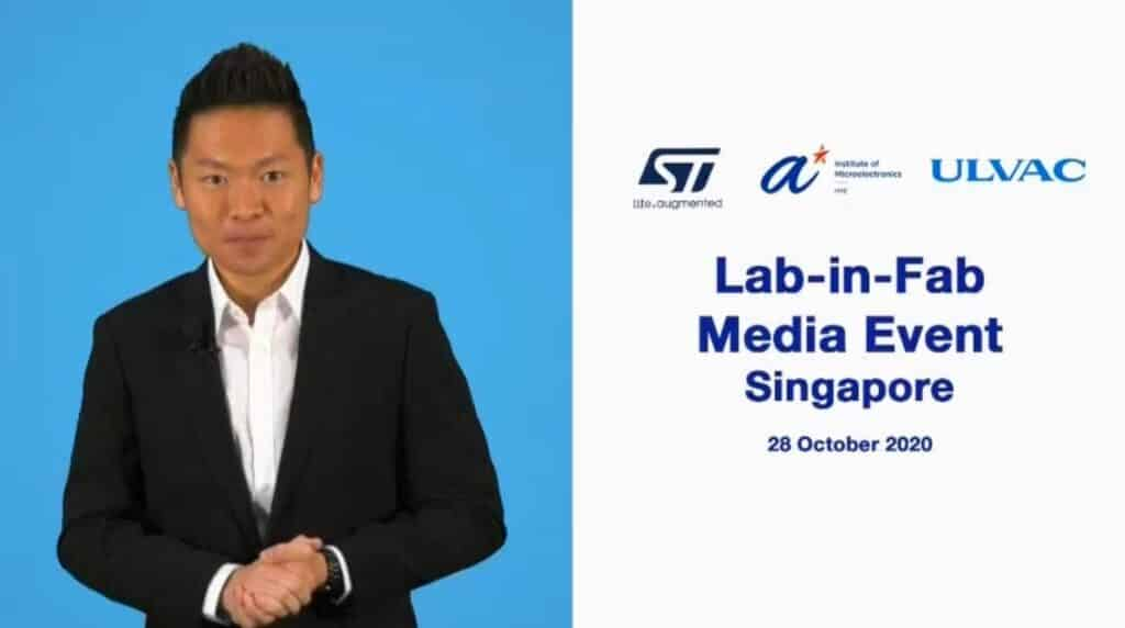 Virtual Events Emcee James Yang With ST Singapore Media Event