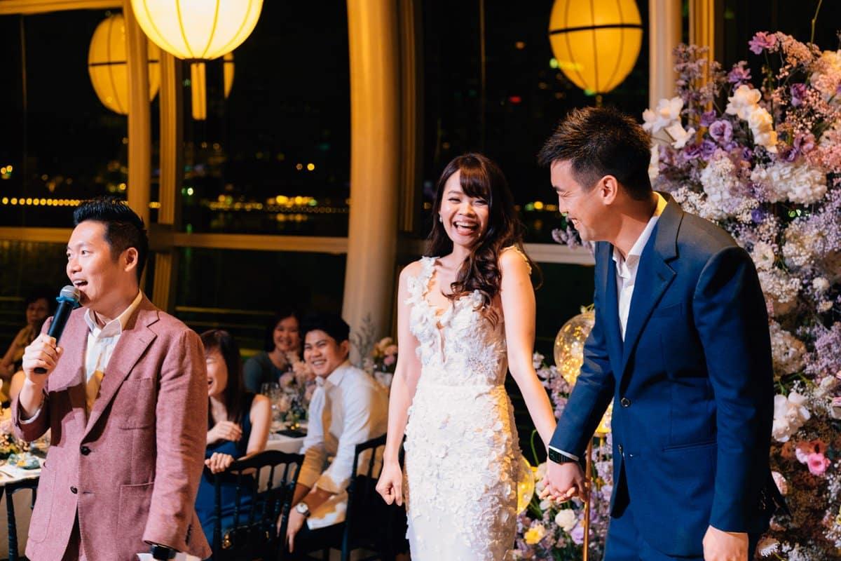 Wedding Emcee Singapore James with Joel & Evangeline