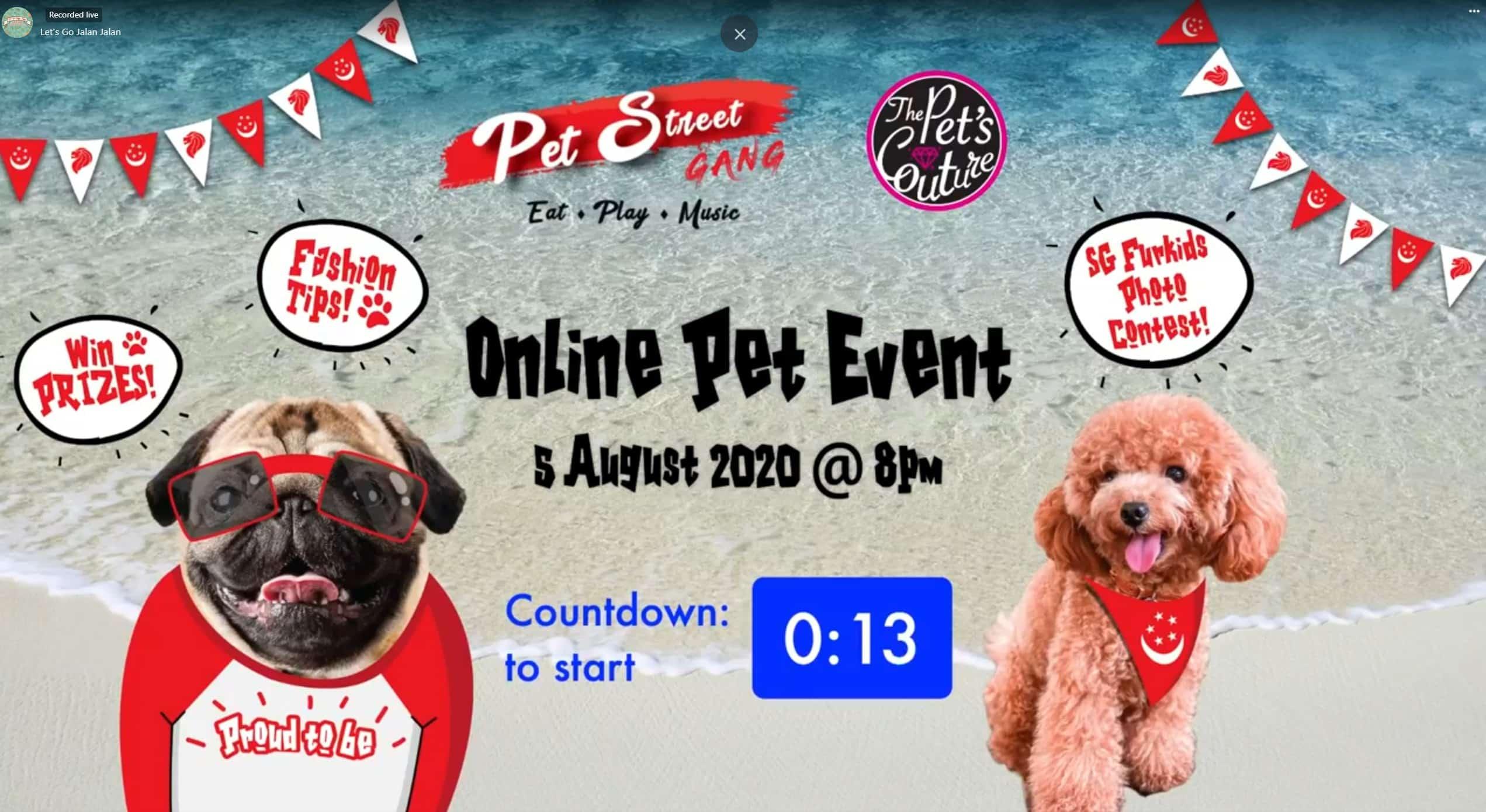 Professional Emcee Singapore James Yang Pet Street Gang Virtual Event